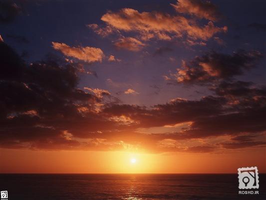 عکس منظره غروب آفتاب